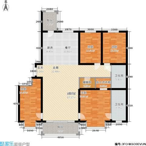 群力观江国际4室0厅2卫0厨211.00㎡户型图