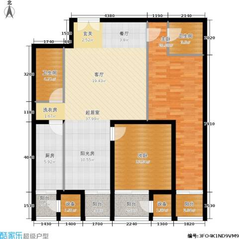 天一紫御庄园2室0厅2卫1厨138.00㎡户型图