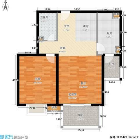 亚太世纪花园1室0厅1卫1厨80.00㎡户型图