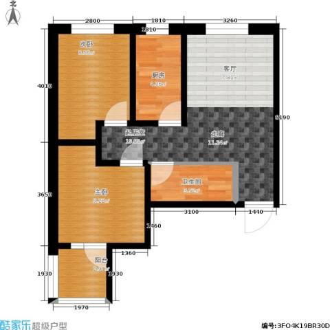 龙潭湖凤凰山庄公寓2室0厅1卫1厨72.00㎡户型图