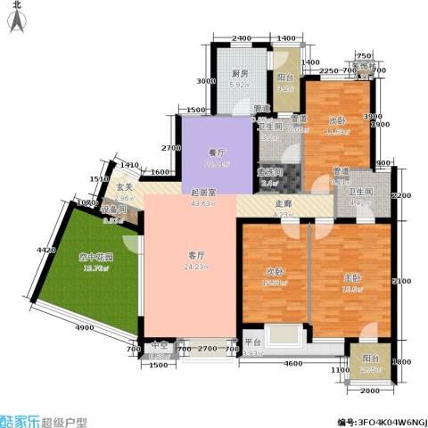 时代龙和大道3室0厅2卫1厨163.00㎡户型图