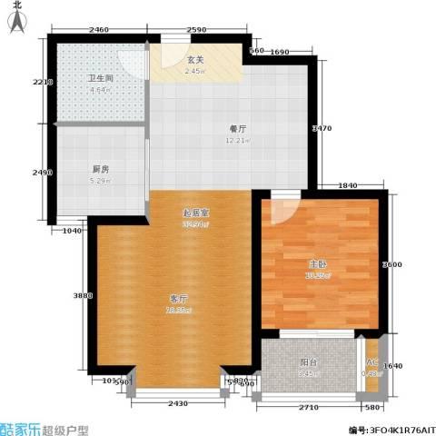 北城山水1室0厅1卫1厨81.00㎡户型图