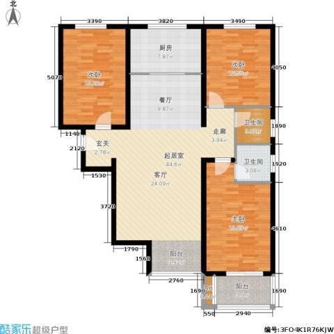 北城山水3室0厅2卫1厨150.00㎡户型图