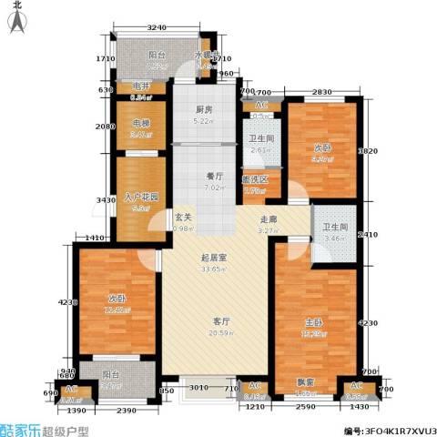星湖湾3室0厅2卫1厨150.00㎡户型图