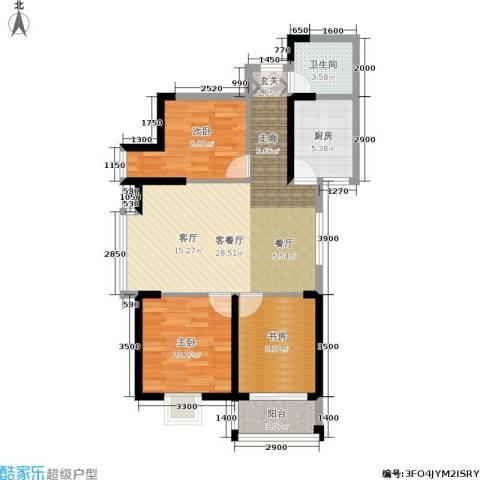 仕府公馆3室1厅1卫1厨93.00㎡户型图