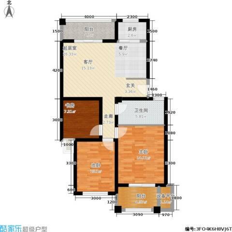 金色华庭3室0厅1卫1厨95.00㎡户型图