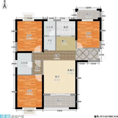 罗马景福城3室1厅2卫1厨137.00㎡户型图