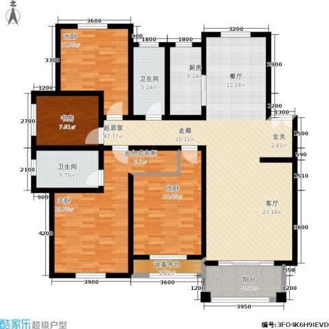 金色华庭4室0厅2卫1厨151.00㎡户型图