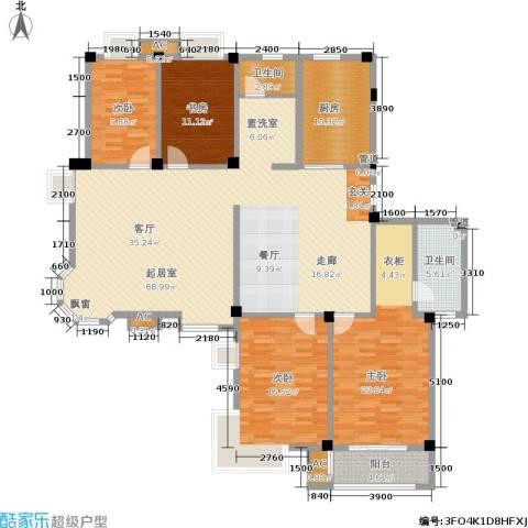 天籁华都4室0厅2卫1厨217.00㎡户型图