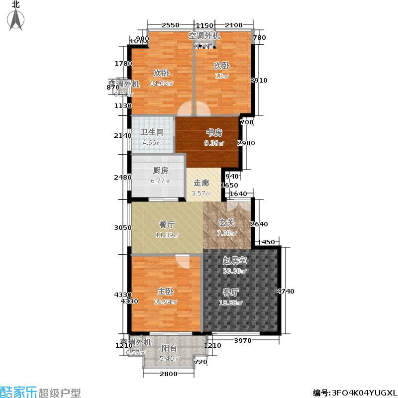 世嘉博客121.11㎡3号楼5、7层J户面积12111m户型