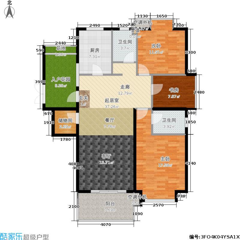 世嘉博客120.91㎡1号楼7层E1面积12091m户型