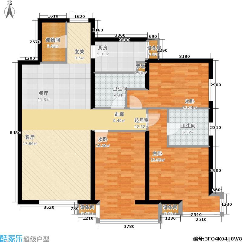玉泉新城142.45㎡一期B10-1-X02(售罄)户型