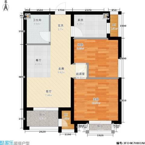 青年城2室0厅1卫1厨77.00㎡户型图