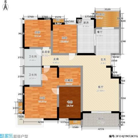 新兴新庆坊3室0厅2卫1厨158.00㎡户型图