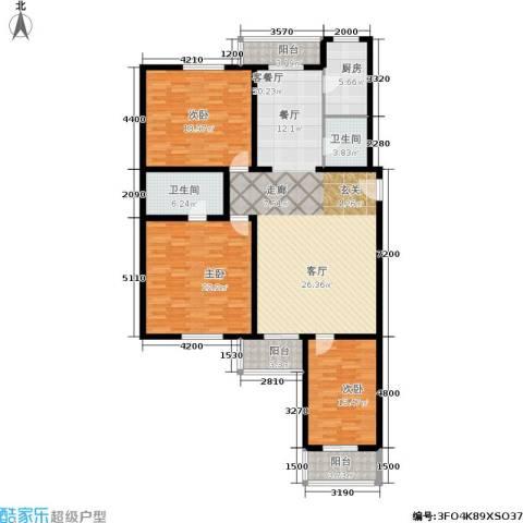 上东三角洲3室1厅2卫1厨178.00㎡户型图