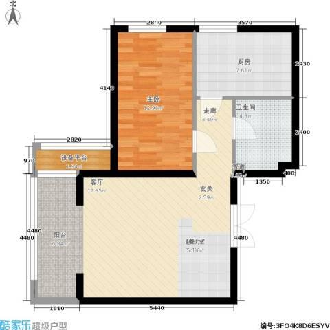 里外里公寓1室0厅1卫1厨79.00㎡户型图