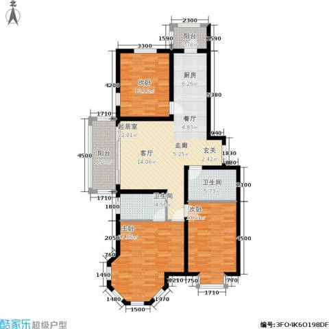 群力观江国际3室0厅2卫0厨137.00㎡户型图