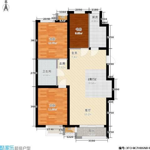 青年城3室0厅1卫1厨106.00㎡户型图