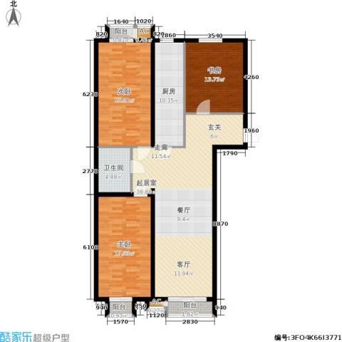 青年城3室0厅1卫1厨153.00㎡户型图