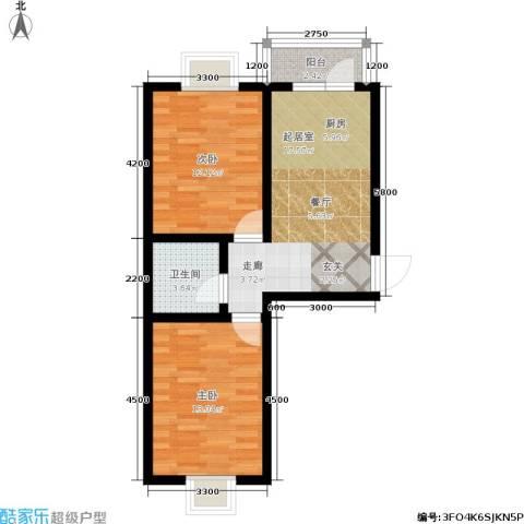 大江原筑2室0厅1卫0厨71.00㎡户型图