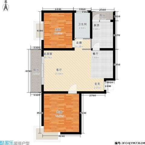 新兴新庆坊2室0厅1卫1厨95.00㎡户型图