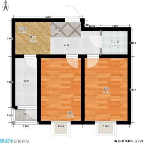 大江原筑2室0厅1卫1厨63.00㎡户型图