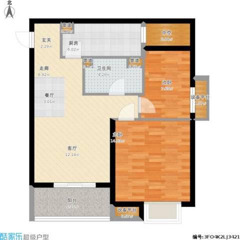 凯德新视界2室1厅1卫1厨97.00㎡户型图