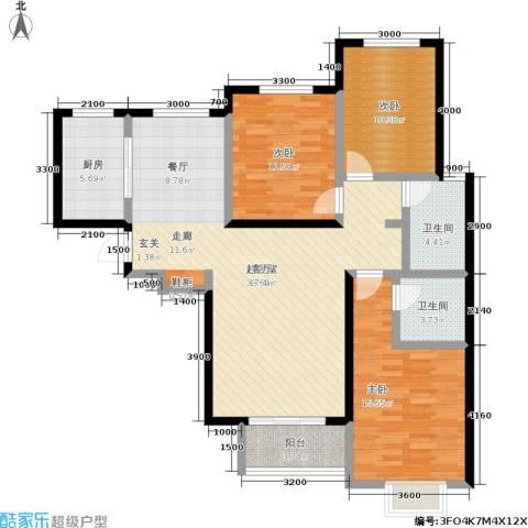 御龙湾3室0厅2卫1厨140.00㎡户型图