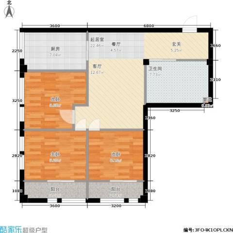 凤城阳光3室0厅1卫1厨78.84㎡户型图