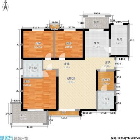铂廷3室0厅2卫1厨116.00㎡户型图