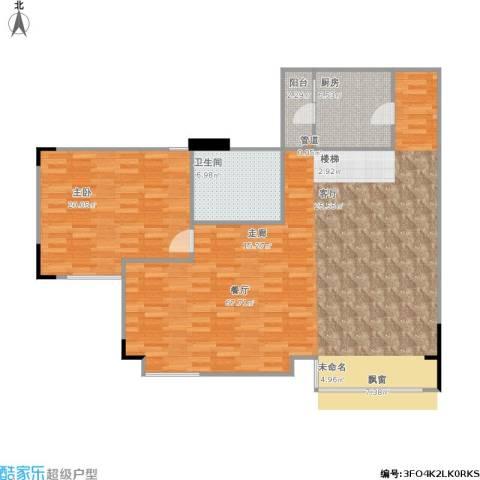 南湖半岛花园1室1厅1卫1厨136.00㎡户型图
