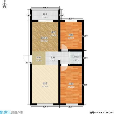 江岸龙苑2室0厅1卫1厨82.00㎡户型图