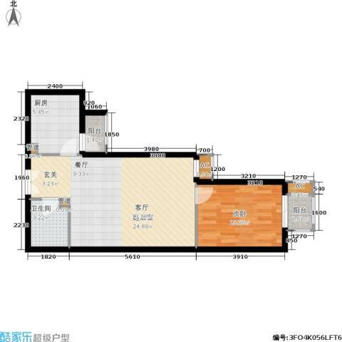 公园5号1室0厅1卫1厨55.00㎡户型图
