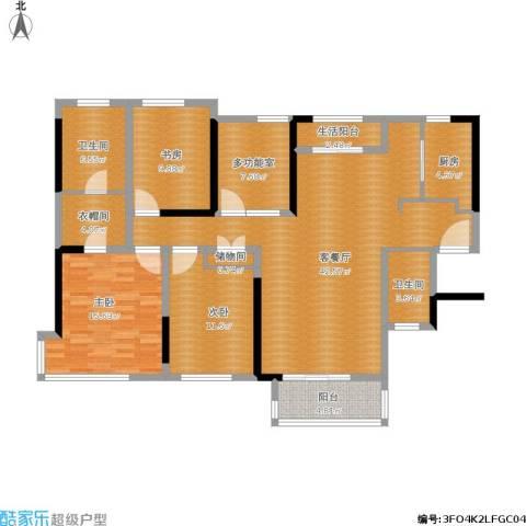 禅城绿地中心3室1厅2卫1厨165.00㎡户型图