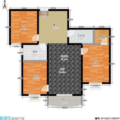 尚东国际城3室0厅1卫1厨118.00㎡户型图