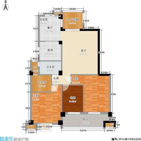 左海帝景3室0厅2卫1厨147.00㎡户型图