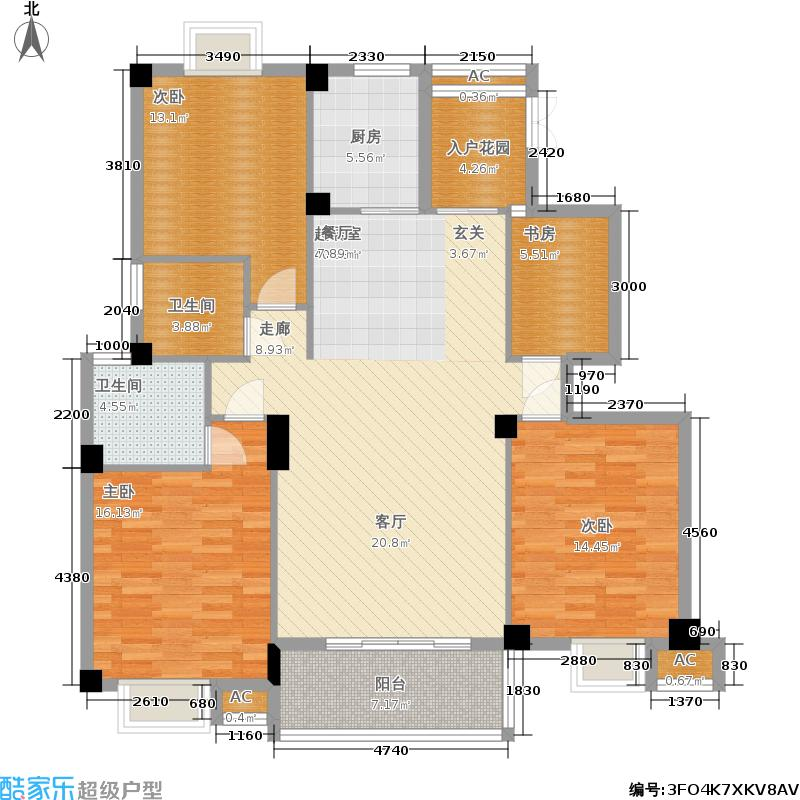 左海帝景2号楼2F-17F02单元户型