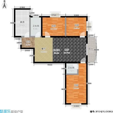 尚东国际城3室0厅2卫1厨122.00㎡户型图