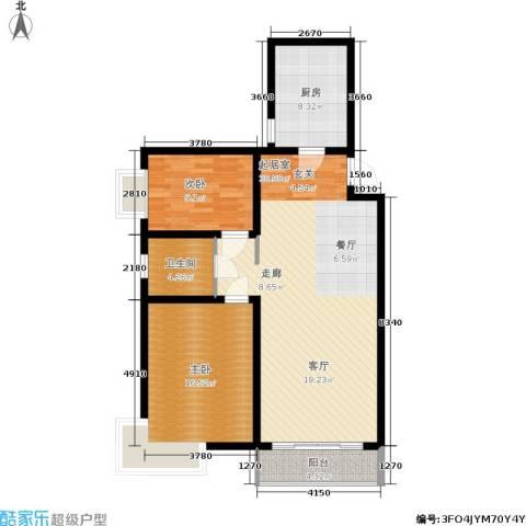 新兴新庆坊2室0厅1卫1厨92.00㎡户型图