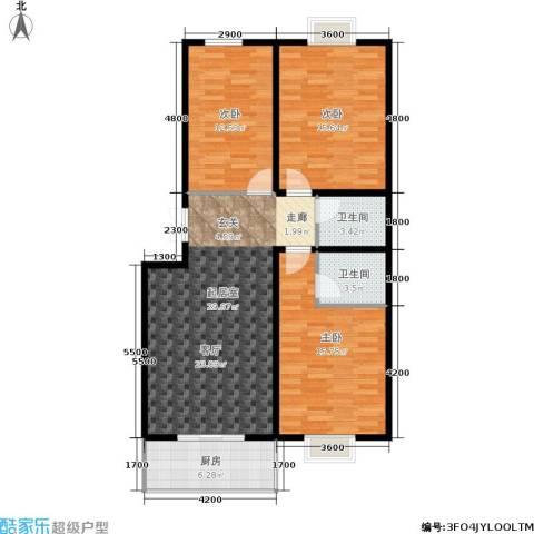 尚东国际城3室0厅2卫1厨86.79㎡户型图
