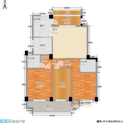 左海帝景3室0厅2卫1厨154.00㎡户型图