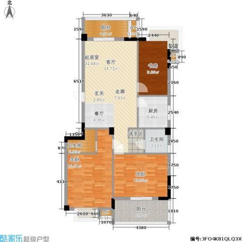左海帝景3室0厅2卫1厨136.00㎡户型图
