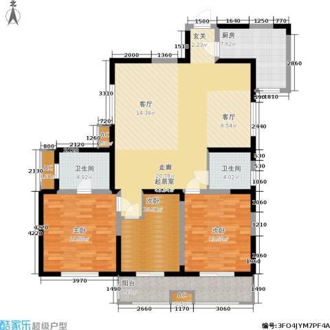 铂廷3室0厅2卫1厨126.00㎡户型图