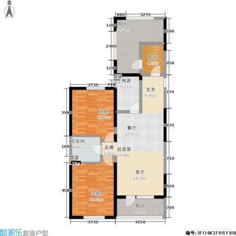 澳海澜庭2室0厅1卫1厨109.00㎡户型图