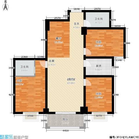 郦景澜庭3室0厅2卫1厨122.00㎡户型图