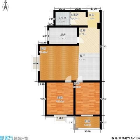 郦景澜庭2室0厅1卫1厨102.00㎡户型图