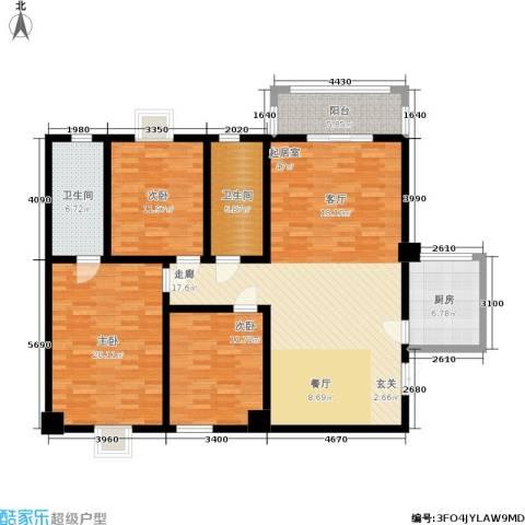 郦景澜庭3室0厅2卫1厨133.00㎡户型图