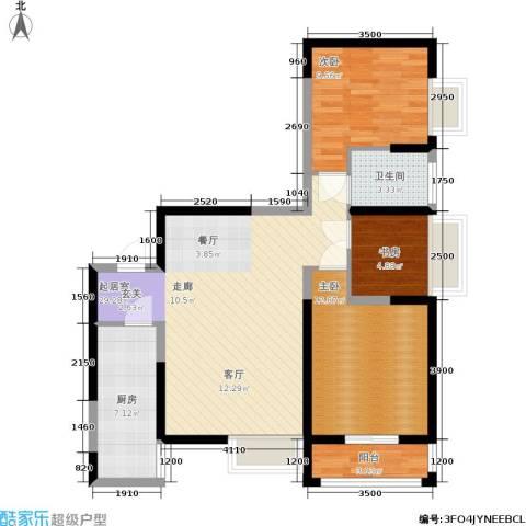 锦里3室0厅1卫1厨98.00㎡户型图