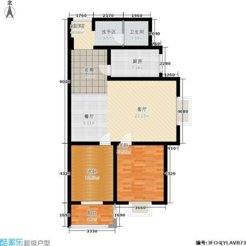 郦景澜庭2室0厅1卫1厨101.00㎡户型图