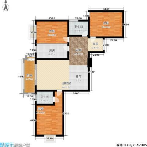 郦景澜庭3室0厅2卫1厨130.00㎡户型图